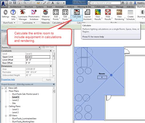 lighting in revit using elumtools tips tricks and handy