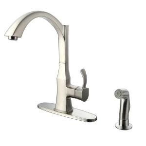 glacier bay single handle standard kitchen faucet with