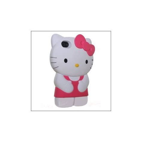 Flipcase Soft Hellokitty Iphone 4 4s Pink pink white new 3d soft silicone hello