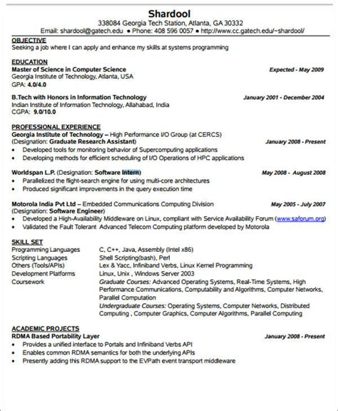 exle software engineer resume software engineering intern resume 28 images resume