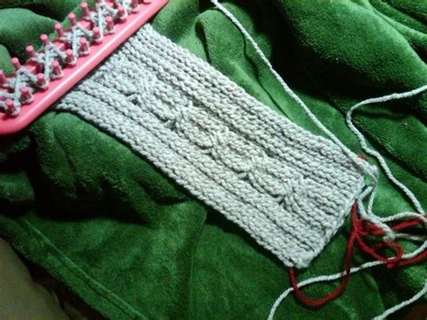 cable knit on loom cable stitch on the loom knifty knitter projects