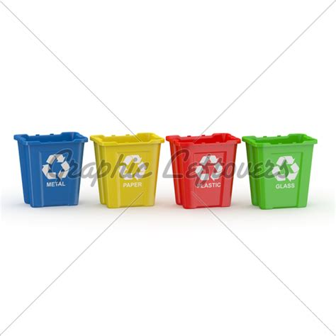recycle bin with sign of recycling sort by mat 183 gl