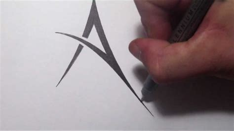 tattoo design with letter a how to draw a simple tribal letter a youtube
