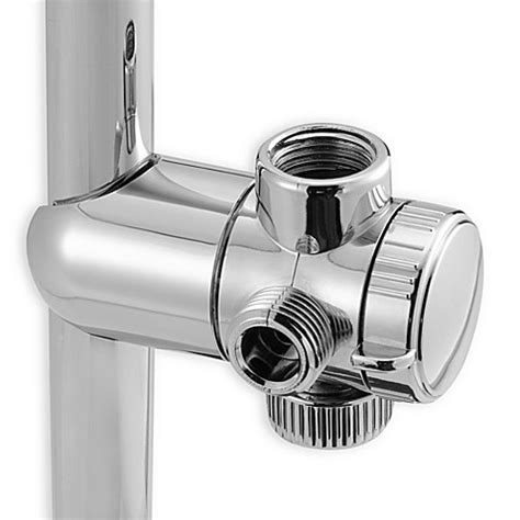 bed bath and beyond shower heads rainspa 174 3 way water diverter for shower heads bed bath