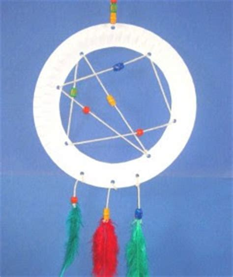 How To Make A Paper Dreamcatcher - paper plate catcher munchkins and