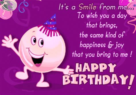 Wishing My Happy Birthday Happy Birthday Quotes Wishes In Purple Quotesgram