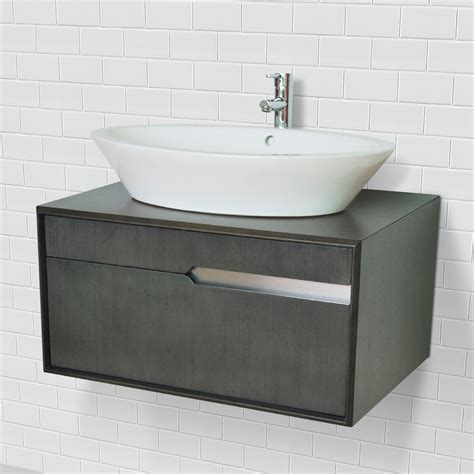 Modern Wall Mounted Bathroom Vanities Deco 30 Inch Modern Wall Mount Vessel Bathroom Vanity