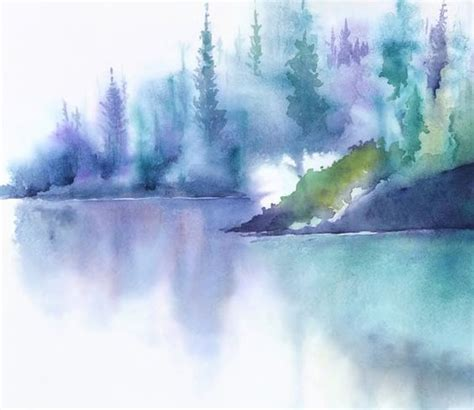 relaxing painting videos teal art painting watercolor painting landscape
