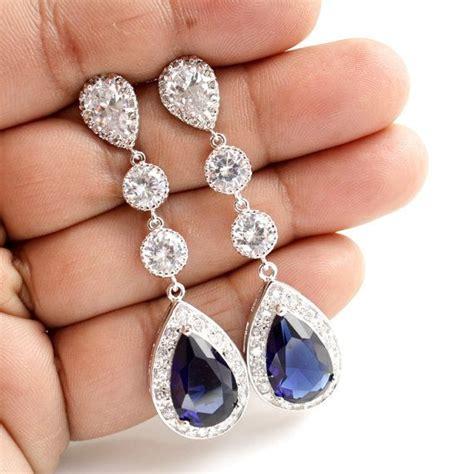 Hochzeitsschmuck Blau by Die Besten 25 Braut Ohrringe Ideen Auf