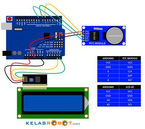membuat jam digital tanpa mikro membuat jam digital dengan arduino uno rtc ds1302 dan