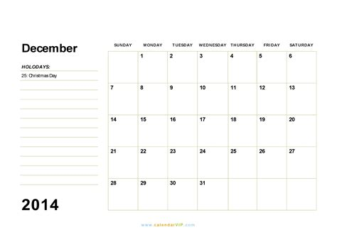 printable december 2014 calendar word template december 2014 calendar blank printable calendar template