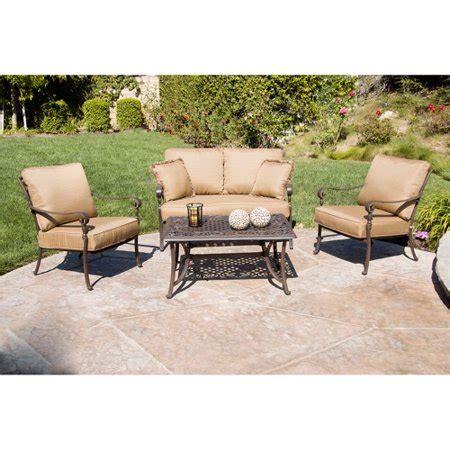 walmart better homes and gardens furniture better homes and gardens lake in the woods 4 patio conversation set seats 4 walmart