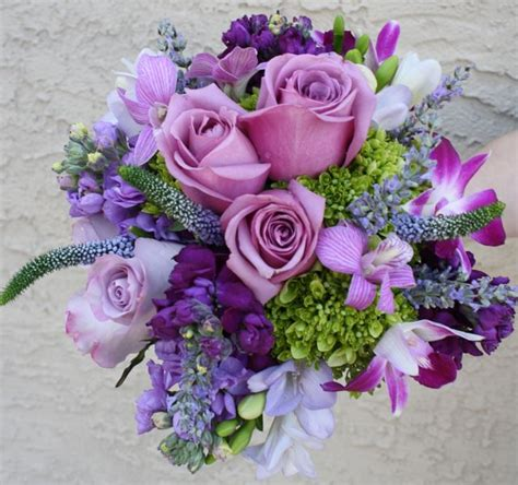 Purple Flowers Wedding by Purple Bouquet Uniquelymebridetobe