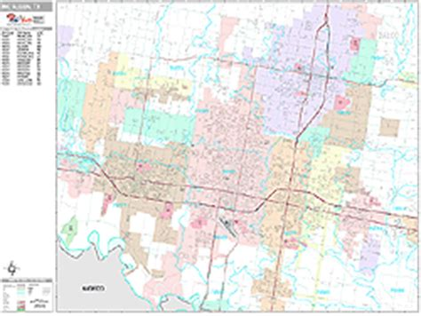 mcallen texas zip code map mcallen texas zip code wall map premium style by marketmaps