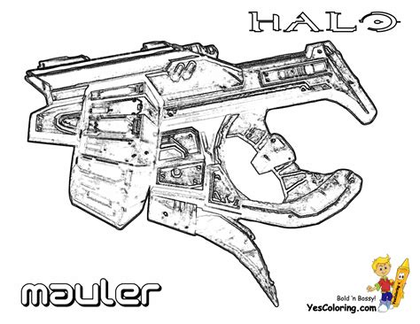 halo guns coloring pages free halo weapon coloring pages