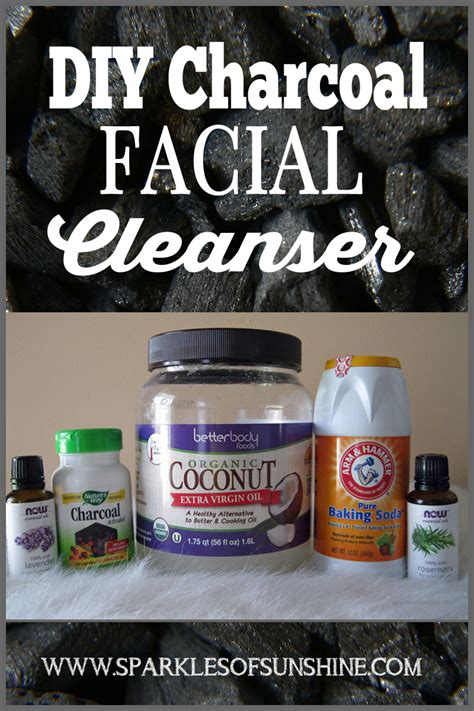 Baby Food Scrub Mask Charcoal diy charcoal cleanser sparkles of