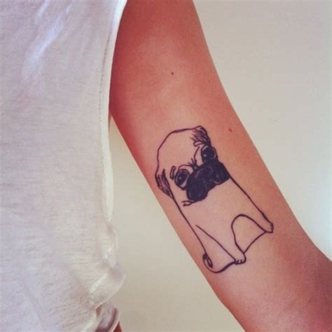 minimalist tattoo ideas tumblr pug tattoo on tumblr