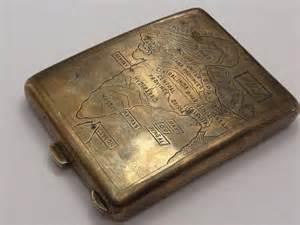 Silver british empire colonial india ruby set cigarette case ebay