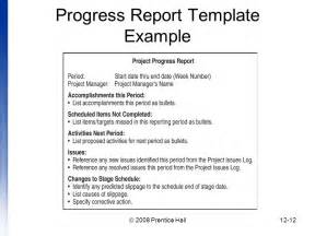 Work Progress Report Template Introduction To Project Management Chapter 12 Managing