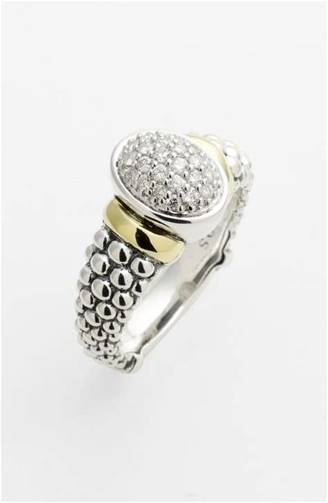 lagos twilight oval ring in silver silver gold