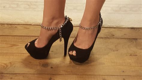 locked high heels locking ankle cuffs cuffs locking high heel chains