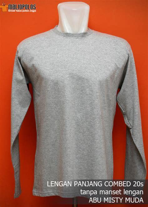 Kaos 02 Warna Putih kaos polos lengan panjang cotton combed 20 s grosir