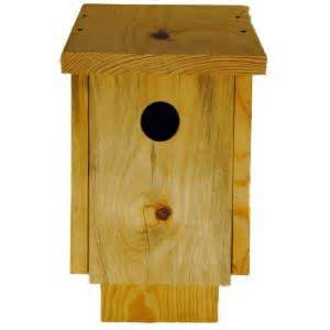 home depot bird fly away homes unfinished pine blue bird house 2012011bhuf