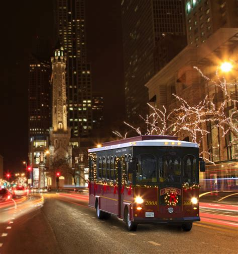 chicago trolley s holiday lights tour kidlist