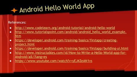 tutorialspoint android pdf android hello world 4 dummies non programmers pdf