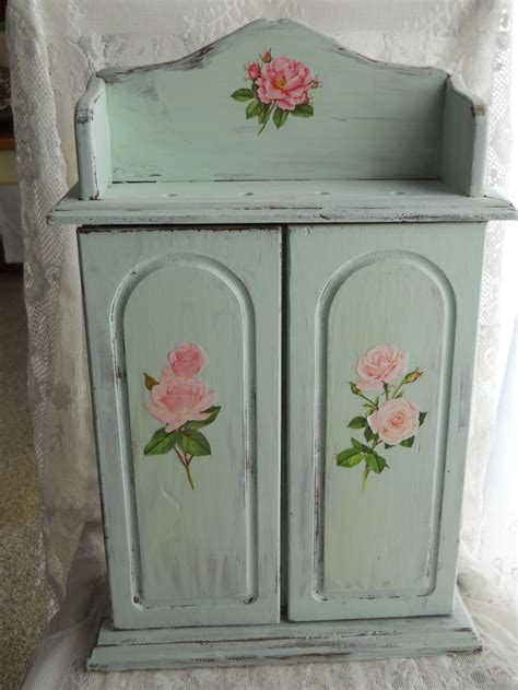 Decoupage On Painted Wood - simple decoupage distress paint a wood cabinet in shabby