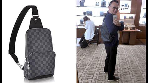 Louis Vuitton Sling Bag louis vuitton s avenue sling bag unboxing damier