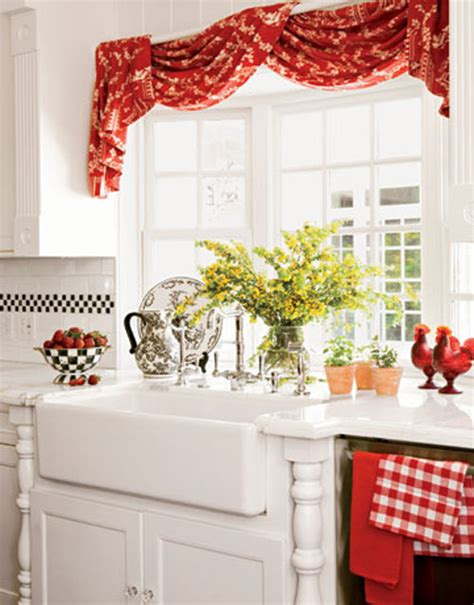 red country curtains country kitchen curtains red