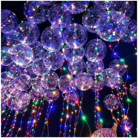 theme line bola okrągły świecący balon led