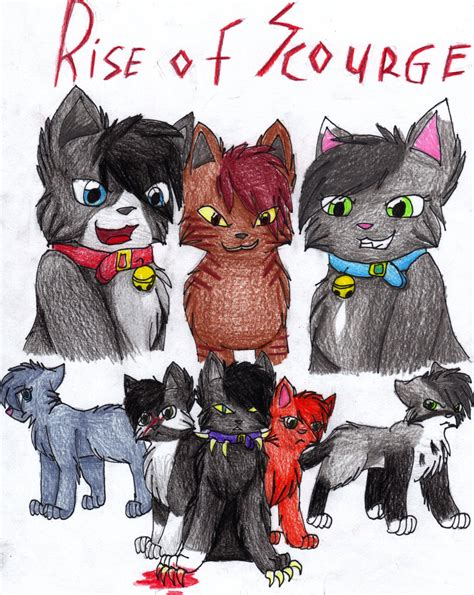 warriors the rise of scourge rise of scourge poster by cascadingserenity on deviantart