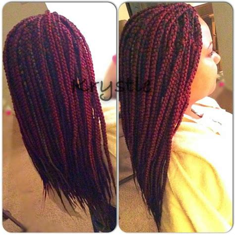 xpression burgundy medium single braids burgundy and 27 color x pression