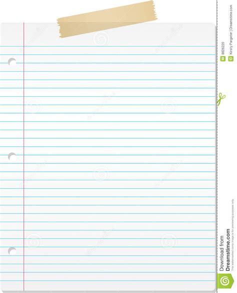 lined paper stock photo image 8826220