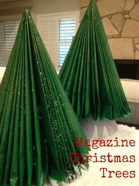 magazine christmas trees bookpage crafts pinterest