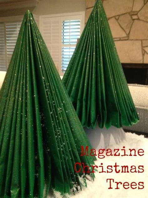 magazine christmas trees bookpage crafts pinterest