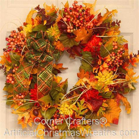 shades of autumn wreath cornercrafters autumn wreaths