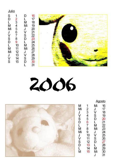 Calendario Agosto 2006 Calendario 2006 Julio Agosto By Sigroneta On Deviantart