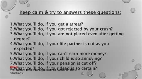 Or Questions Crush Positive Intention