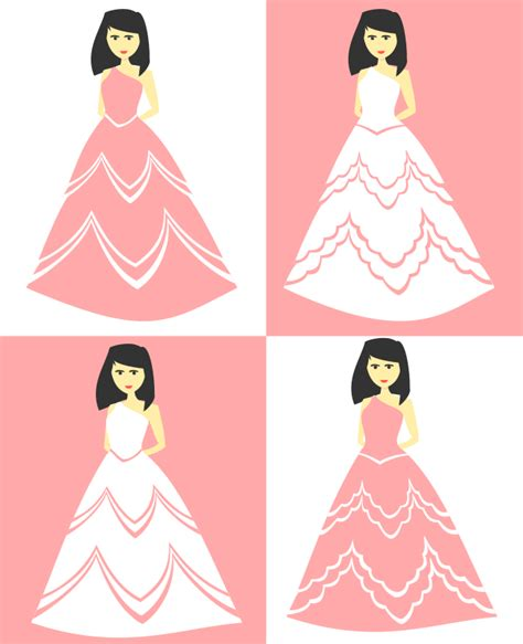 Desain Dress Vector | clipart party dress and wedding gown