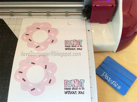My Vue Gift Card - i love 2 cut paper free file donut gift card holder