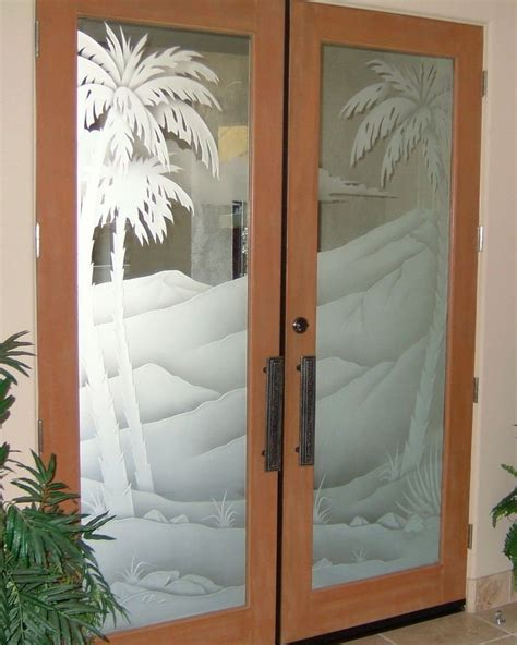 Glass In Doors Frosted Glass Doors Tree Designs Sans Soucie Glass