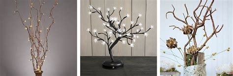 lighted trees home decor twig tree home decorating