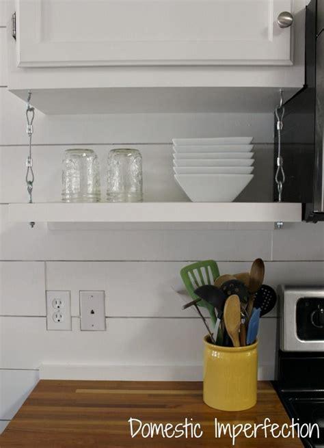 cabinet hanging shelf budget kitchen remodel