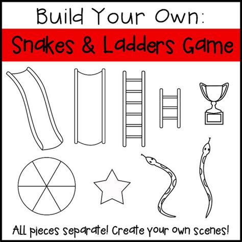 build your own snakes and ladders board game from