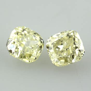 yellow diamonds in the light yellow pair of fancy light yellow 3 59 carat
