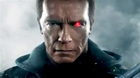 Wants Arnold To Free by Terminator Genisys Schwarzy T800 Affiche Anim 233 E