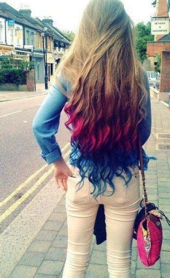 bright color ombre hairstyles multi bright colored ombre hair extensions color